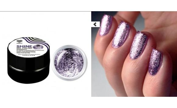 Violet Flakes Shine Gel Polish №06 , 5 ml