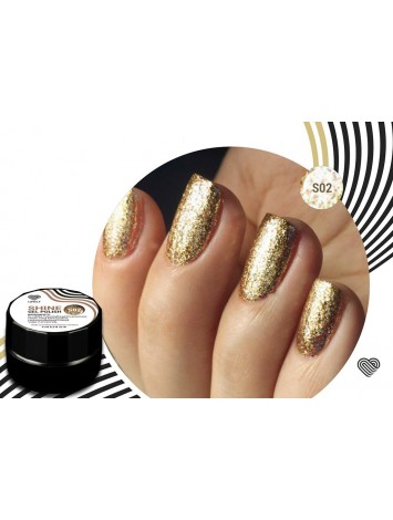 Gold Flakes Shine Gel Polish №02 , 5 ml