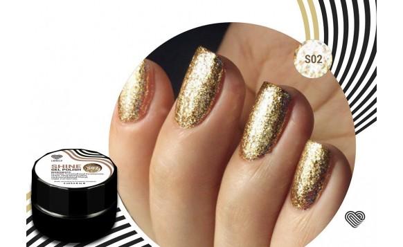 Gold Flakes Shine Gel Polish №02 , 5 ml