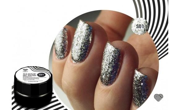 Silver Flakes Shine Gel Polish №01 , 5 ml