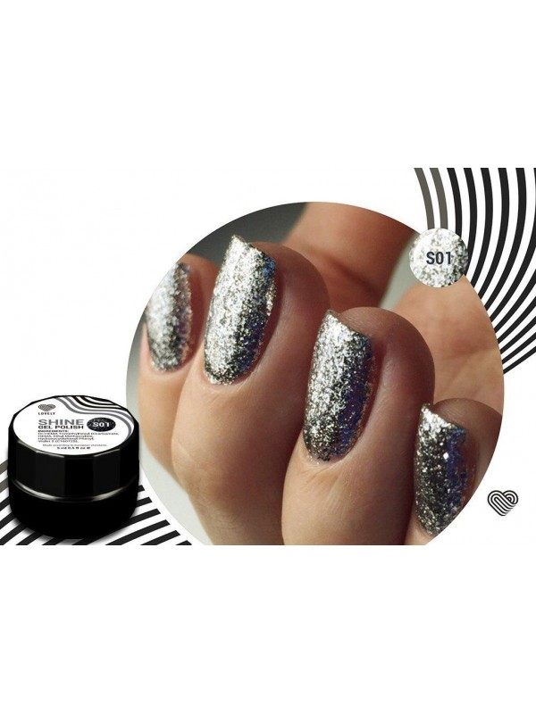 Silver Flakes Shine Gel Polish №01 , 5 ml