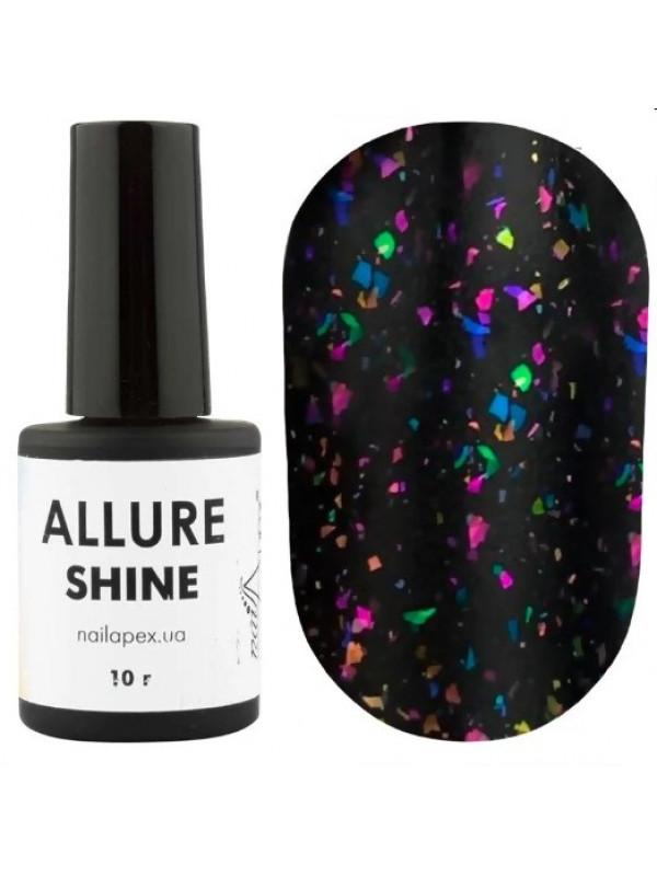 NailApex Allure Shine Matte Top ,  10 ml