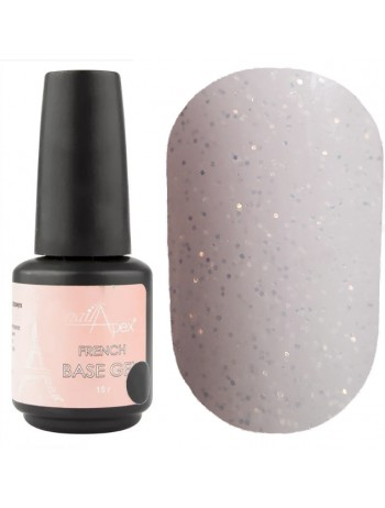 NailApex French Glitter Base Coat №08 ,  15 ml