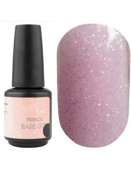 NailApex French Glitter Base Coat №09 ,  15 ml