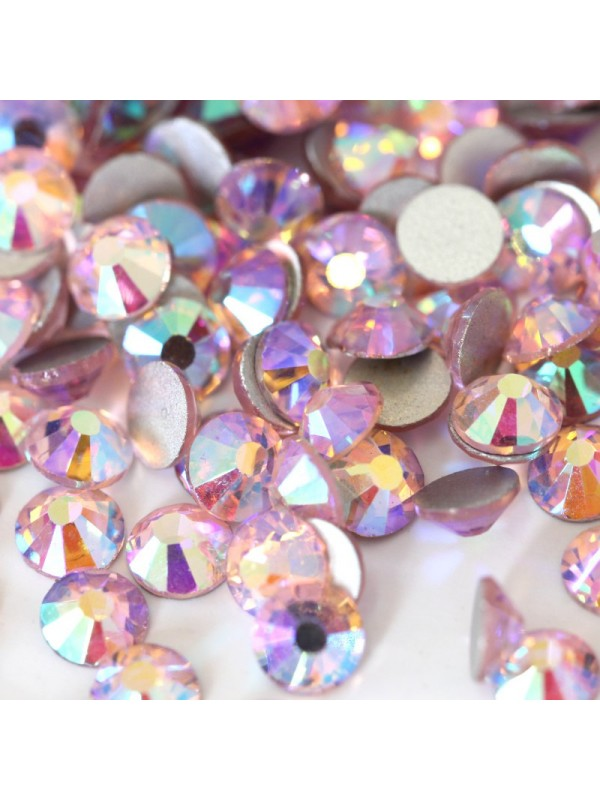 Light Rose  AB Rhinestones