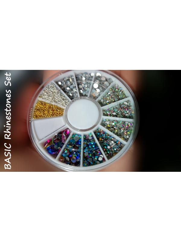 Basic Set  Mix Size Colors  Rhinestones and Beads