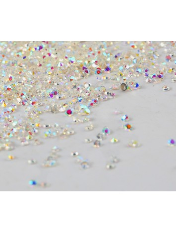 Crystal set AB Rhinestones Pixie Caviar Beads