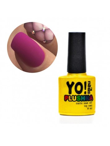 Yo!Nails Plushka Matte Top Coat , 8 ml