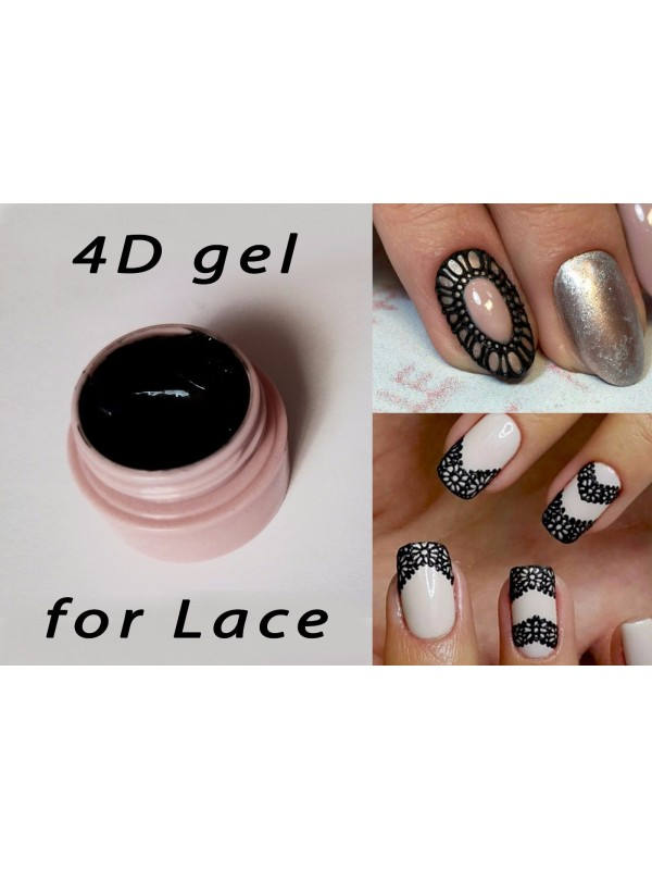 4D Black Plastiline Gel , 8ml